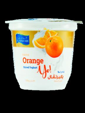 زبادي بالبرتقال