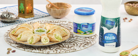 Sweet Cheese Qatayef Asafiri
