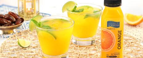 موكتيل البرتقال والليمون